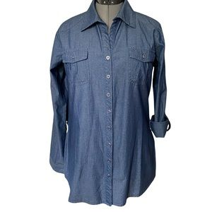 Chambray Denim Tunic By Coupe Collection L